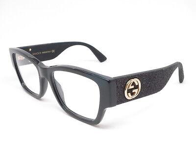 New Authentic Gucci GG0104O 001 Black GG 0104O Eyewear Eyeglasses