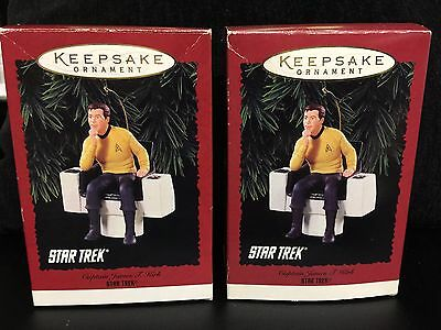 Hallmark Ornament Star Trek Captain JAMES T KIRK 1995 FREE S&H