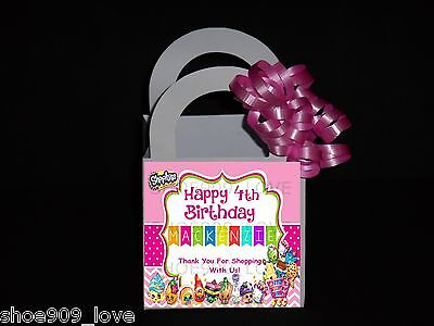 Personalized Favor Bags ( SHOPKINS  12 PERSONALIZED  FAVOR BOXES, BIRTHDAY PARTY)