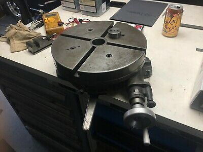 12 Gorton Rotary Table For Mill Milling Machine Used 4-716 High With 20 Plate