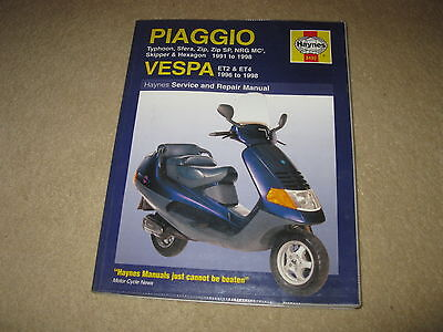 Haynes Piaggio Vespa Scooter Workshop Manual Typhoon Sfera Zip Sp NRG ET2 ET4