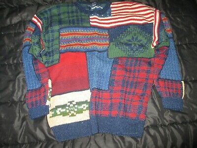 Vintage Nautica Hand Knit Sweater Size XL/TG Thick Cotton 1990s