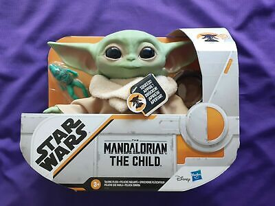 "The Child Baby Yoda Talking Plush Toy w/frog snack Hssbro 7.5""  Mandolorian"