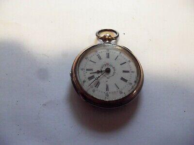 Antique Swiss 0 Size Key-Wind Key-Set Pocket Watch