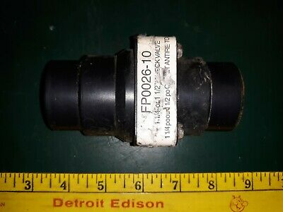20cc59 Flotec Fp0026-10 Check Valve For 1-14 - 1-12 Tube From Sump Pump