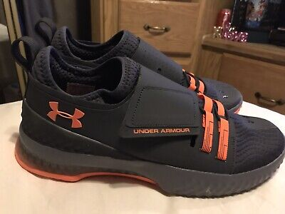Mens Size 11 Under Armour Gray And Orange Shoes