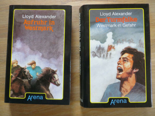 2 Bücher: Aufruhr in Westmark + Der Turmfalke von Lloyd Alexander - Arena Erstve