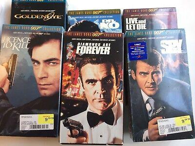 James Bond VHS Lot The James Bond 007 Collection 6 Tapes