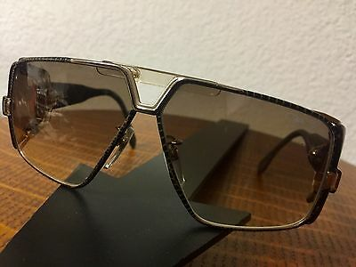 CAZAL MENS 951 LEATHER WRAPPED SUNGLASSES EXTREMELY RARE! WOW!