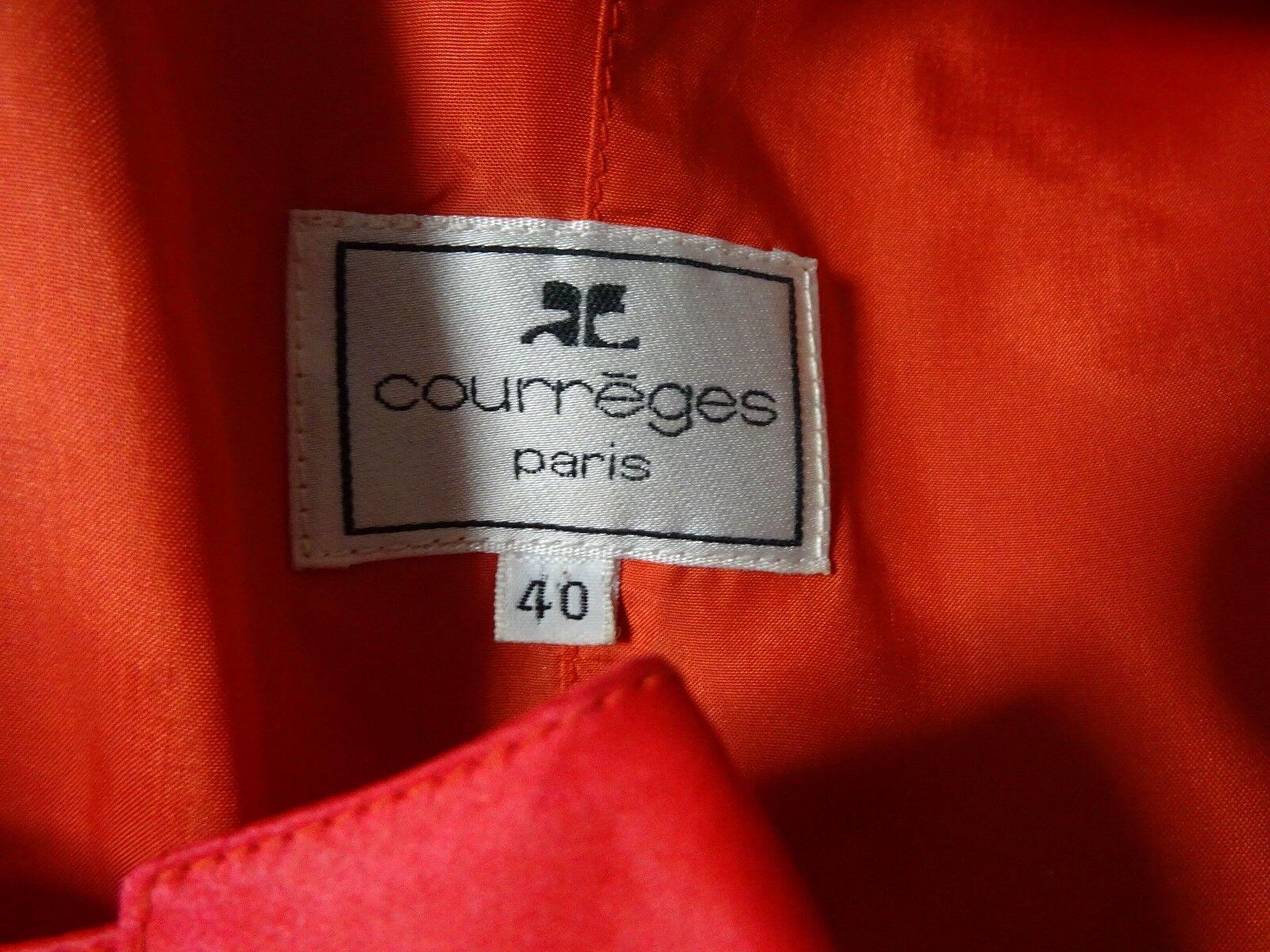 Robe courreges soie t. 40