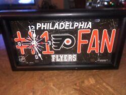 Custom NHL Philadelphia Flyers License Plate Wall Clock Framed