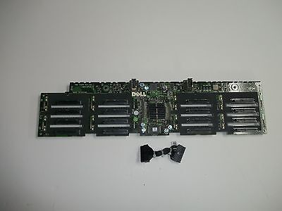 "Dell PowerEdge R910 16 X 2.5"" Slot Hard Drive Backplane J565K 0J565K w/cable"