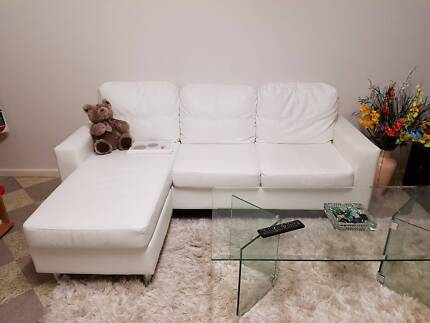 L shape leather sofa couch