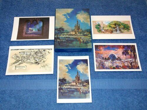 ART OF WALT DISNEY IMAGINEERING NOTECARDS COLLECTION - DISNEYLAND, WDW, EPCOT