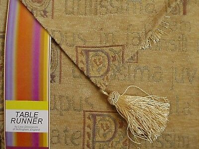 OLD GOLD Tasselled Embroidery Tapestry 12