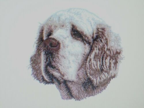 CLUMBER SPANIEL  Bathroom SET OF 2 HAND TOWELS EMBROIDERED