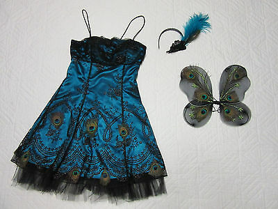 PEACOCK fairy dress COSTUME size 8 unique wings hand made cosplay fantasy OOAK](Peacock Fairy Wings)