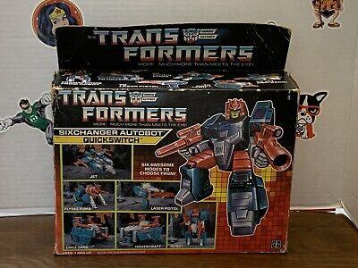Vintage G1 Transformers Quickswitch Complete & Unused In Original Box 1987