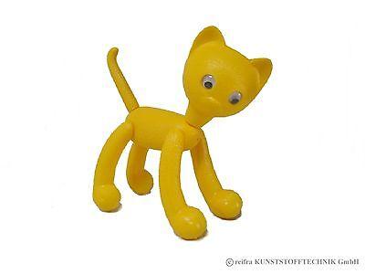 """Katze """"Minka"""" gelb -  DDR Spielzeugkatze Ostprodukte - Made in Germany"""