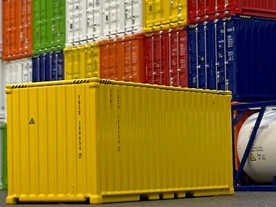 1/64 DCP YELLOW 20' SHIPPING CONTAINER UNIT 1