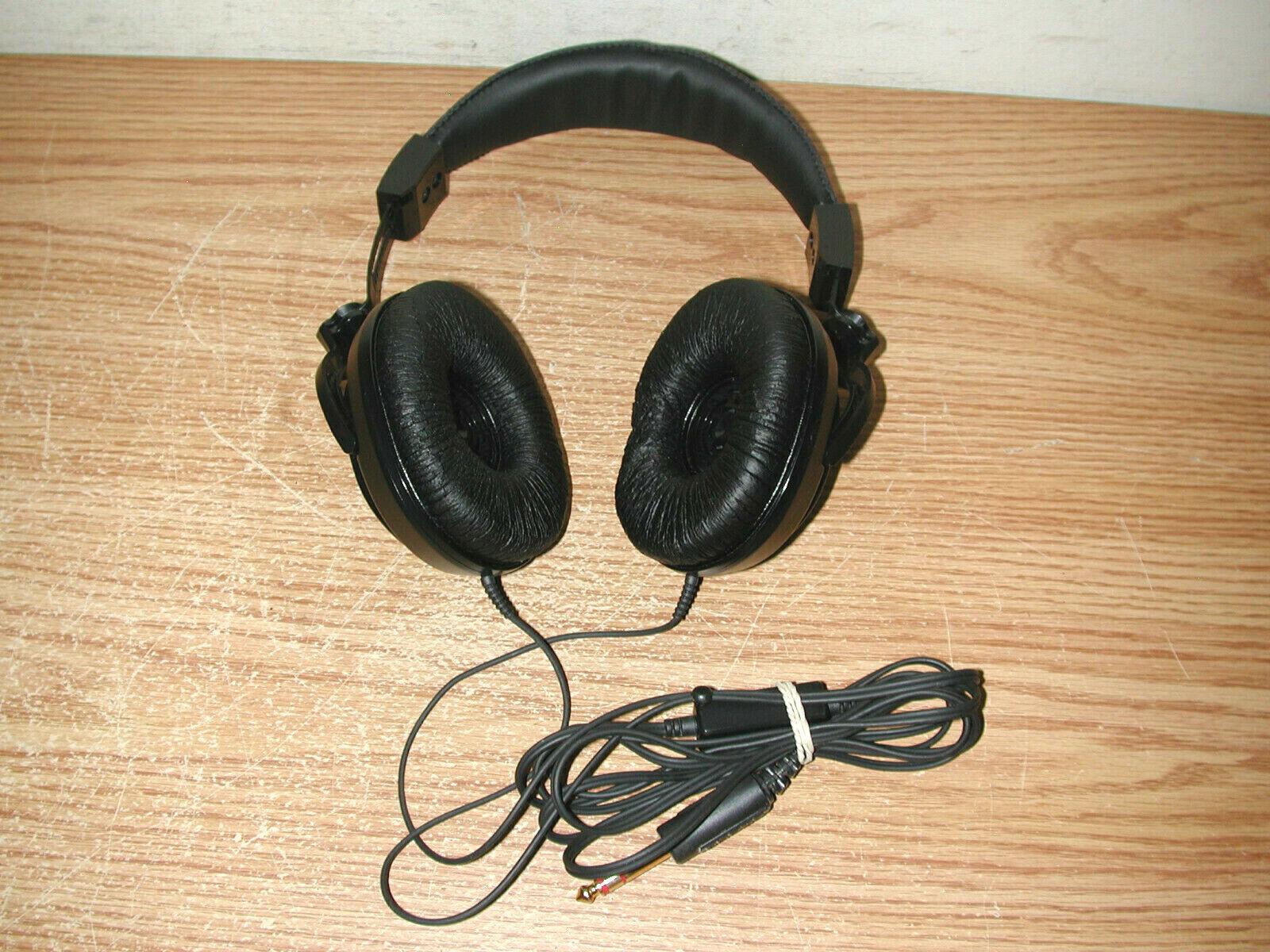 KOSS OPTIMUS LV-20 BLACK ADJUSTABLE STEREO AUDIO HEADPHONES