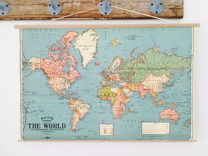 Huge block mounted antique style world map other home decor vintage world map gumiabroncs Image collections