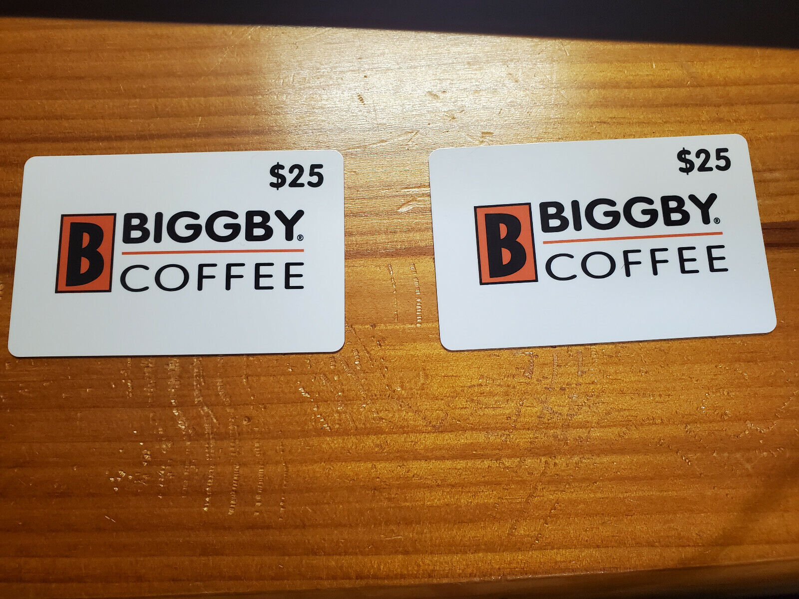 Biggby Coffee Gift Card 50 two Cards At 25 Per Piece FREE SHIPPING  - $35.00