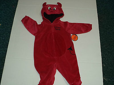 Red Little Devil New Born Boys One Piece Bodysuit For Halloween Size 6-9 Months - Newborn Costumes For Halloween