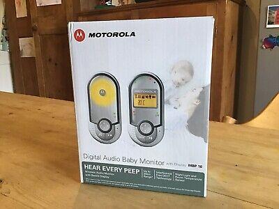 Motorola MBP16 Digital Audio Baby Monitor With Display