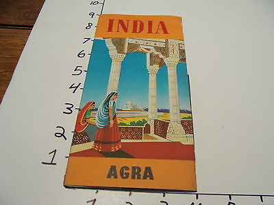 Vintage Tourist paper: INDIA--agra, early brochure