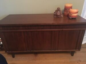 Solid wood, cedar lined chest