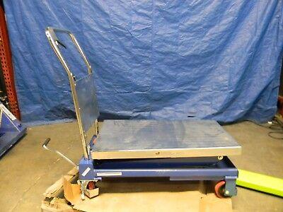 Vestil Hydraulic Scissor Elevating Cart 800 Lb Cap Cart-800-d-ts