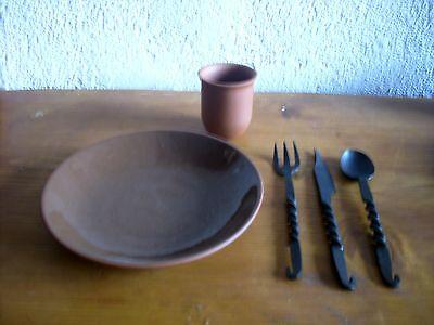 Mittelalter Speiseset aus Ton Tonset LARP Speiseset