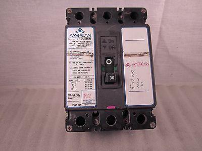 American 30 Amp, 3 Pole Circuit Breaker, NE237030 Used