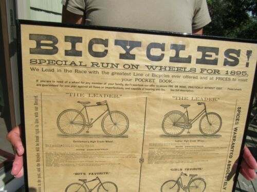 1895 WOOLSON SPICE CO. BICYCLE GIVEAWAY PREMIUM FOR SPICE PURCHASE KANSAS CITY