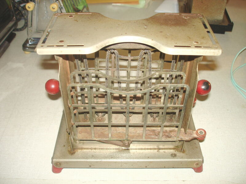 Antique Vintage ELECTRIC TOASTER - TORRID Swing Side Frank Wolcott Co