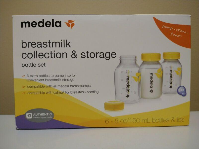 Medela Breast Milk Collection & Storage Bottle Set 6 Pack 5oz 87095 *OPENED BOX*