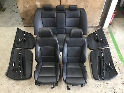 Black Leather Interior Seats Msport BMW E90 Saloon 3 series 2005 - 2011