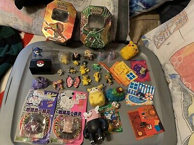 Lot of Collectible Pokemon Toys Keychains Figures Used As Is