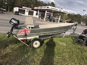 12 ft boat ,trailer and motor