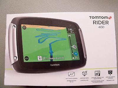 New TomTom RIDER 400 Motorcycle GPS Tom Tom Navigation Lifetime maps Traffic USA