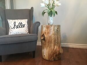 Modern rustic decor -side tables
