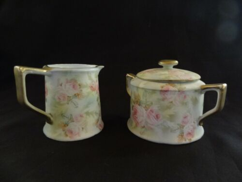 Antique Royal Bayreuth Creamer & Sugar Bowl Rose Tapestry Pattern - ex. cond.