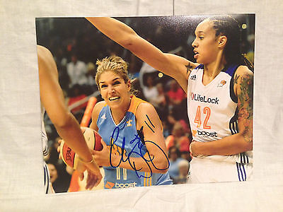 Elena Delle Donne Signed Autographed 8X10 Photo Basketball Chicago Sky Coa D