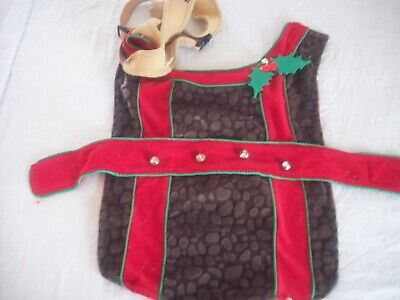 DEER COSTUME FOR A MEDIUM SIZE DOG INCLUDES HAT - EXCELLENT CONDITION - Deer Dog Costume