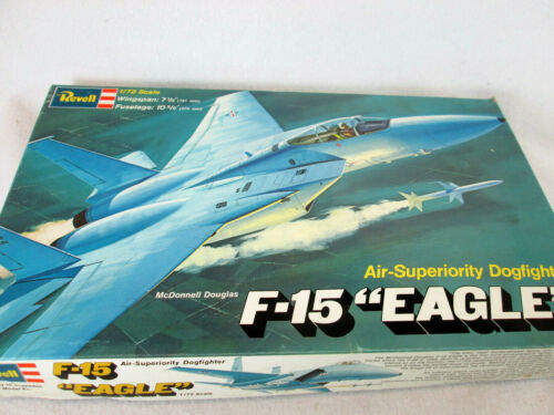 "Vintage 1974 Revell F-15 ""Eagle"" 1/72 plastic model airplane kit H-257"