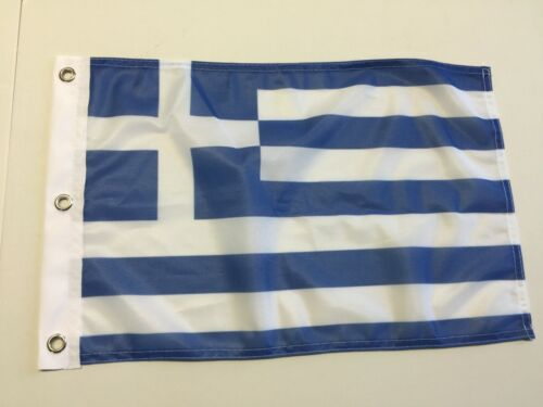 "12"" x 18""  GREECE FLAG GREEK FLAGS 12x18 EUROPEAN NEW BANNER 18"