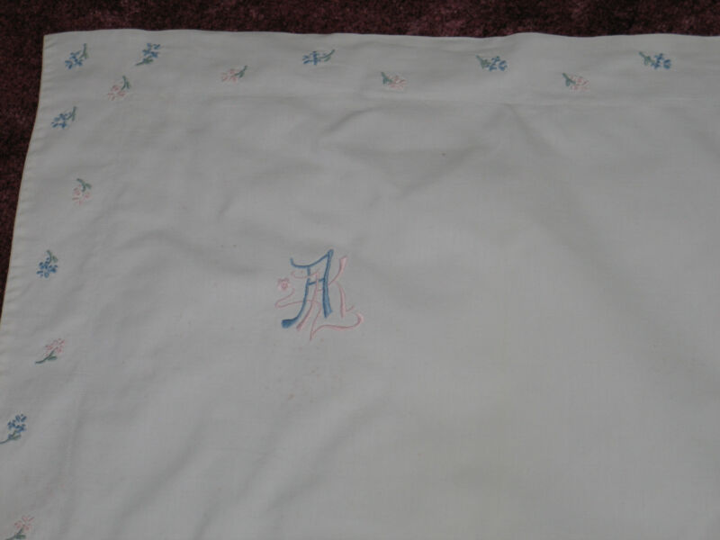 "3-Exquisite Antique c1890s EURO SHAMS PillowCases~Embroidered Monogram ""AK"""