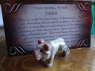 *TIGER* Carved Stone Figurine Totem Wiccan Pagan Familiar Metaphysical