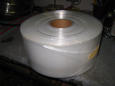 500 Long Clear Plastic Bags 2 Mil Roll 42x7.25 Poly Tubing 10 Cent A Bag 26c3